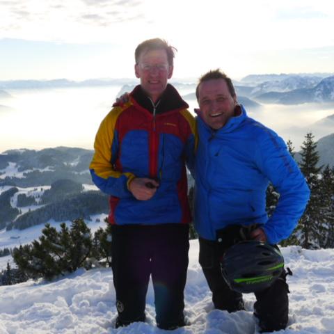 Am Spitzstein auf Skitour